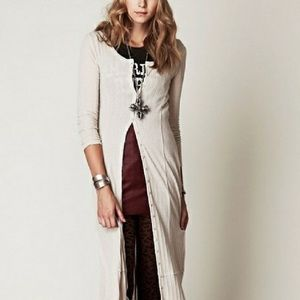 Free People Button Up maxi